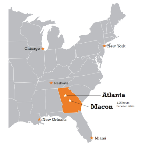 Kết quả hình ảnh cho Du học trường Mercer bang Georgia